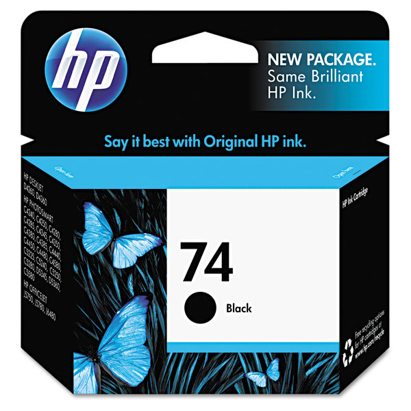 HP 74 Series Original Ink Cartridge