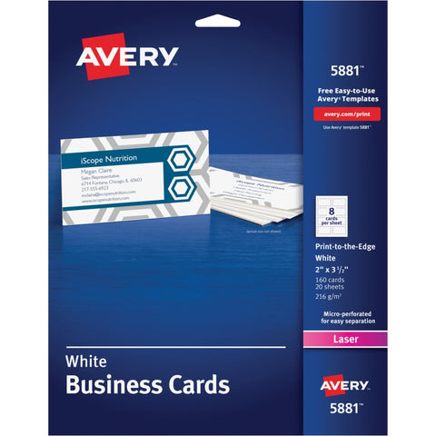 Avery 5881 White Business Cards
