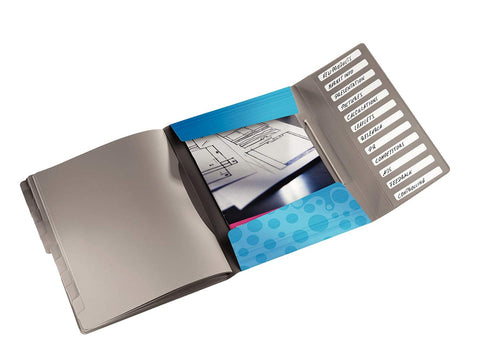 Leitz Bebop 12-Dividers Book with Elastic