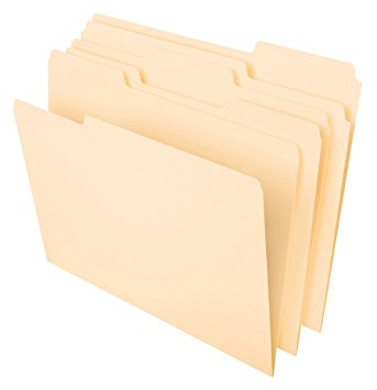 Tops Manilla File Folders Letter Size 1/3 Cut