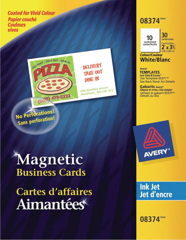 Avery 8374 Magnetic Business Cards