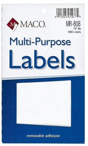 MACO Primary small Round Color Labels