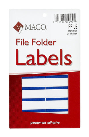 MACO File Folder Labels