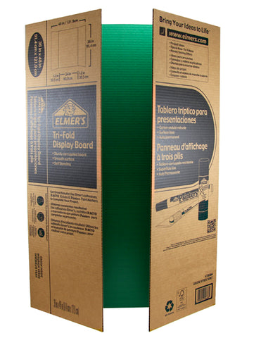 Elmer's Corrugated Tri-Fold Display Board