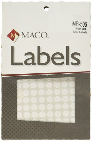 MACO Primary Extra Small Round Color Labels