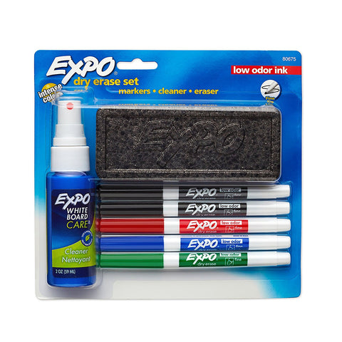 EXPO Low-Odor Fine Point Dry Erase Set