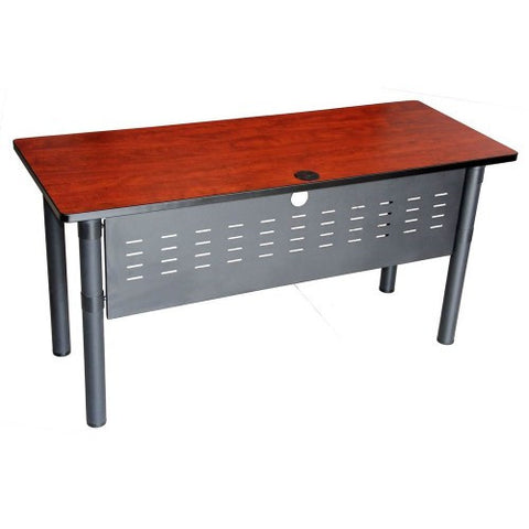 Boss 'Cherry' Rectangular Training Table with Modesty Panel