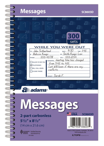 Adams SC8603D Messages 2-Part