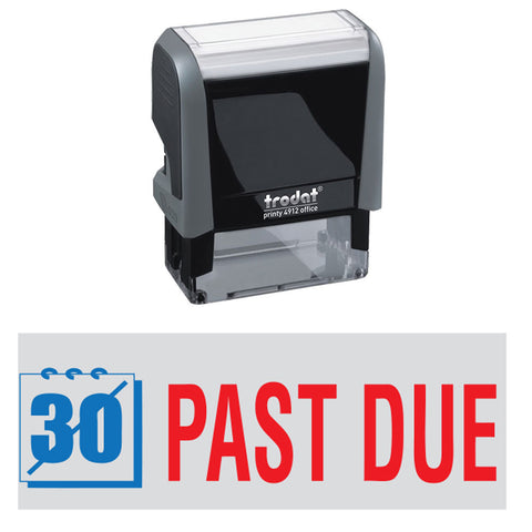 "Trodat ""PAST DUE"" 2-colors self-inking stamp"