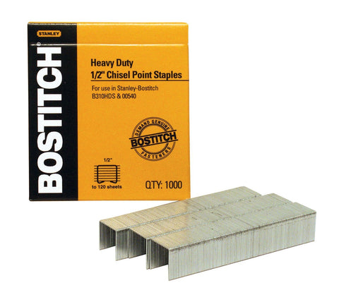 Bostitch 1/2'' Heavy Duty Staples