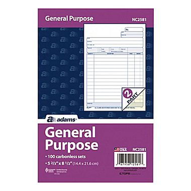 Adams NC2581 General Purpose Forms