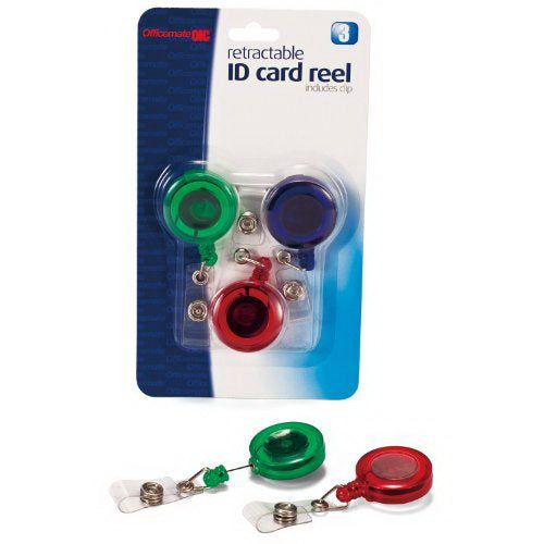 Officemate Retractable ID Card Reels