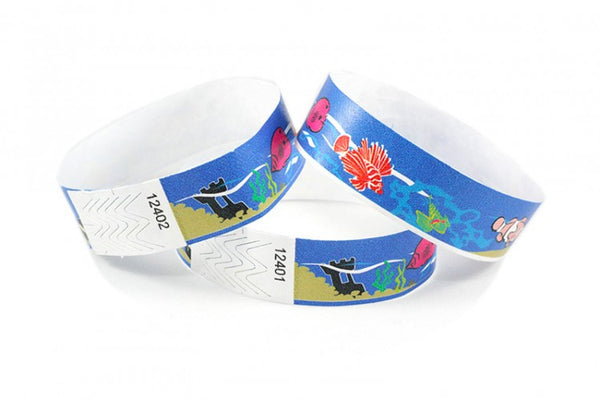Tyvek 3/4 Assorted Design Wristbands