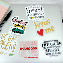 Load image into Gallery viewer, Matthew 6:21 Where your treasure is, there will your heart will be also | Faith Sticker