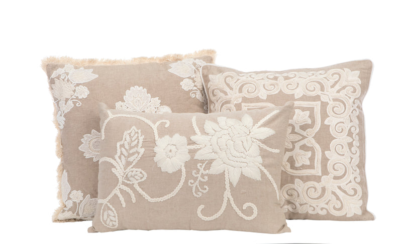 Hanging Gardens Embroidered Pillow