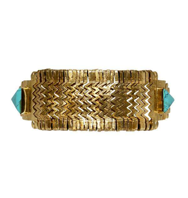Cleopatra In Turquoise/Gold Bracelet