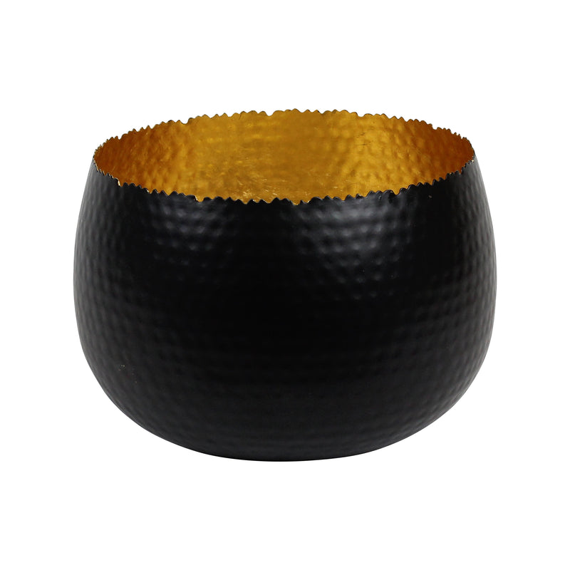 Dune Extra Large Bowl in Black & Gold