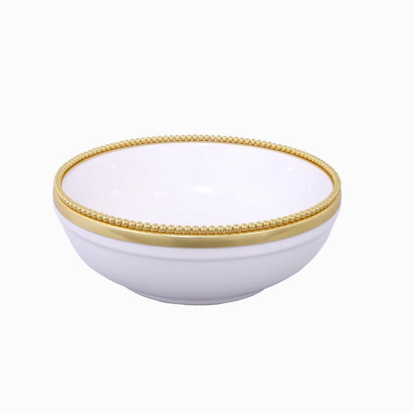 Raj Palace Bowl in White & Gold