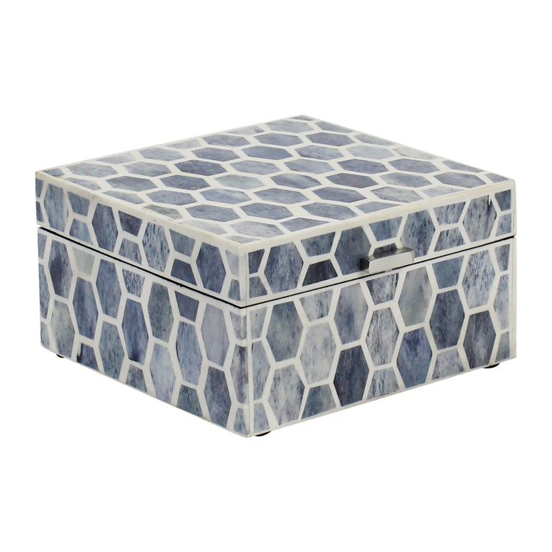 Gramercy Boxes in Indigo & White