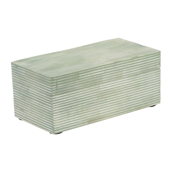 Pinstripe Boxes in Sage & White