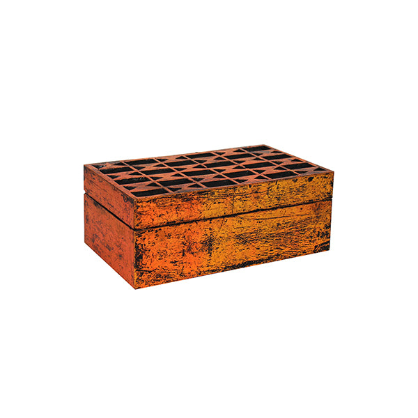Solitaire Jewelry Box Copper over Black