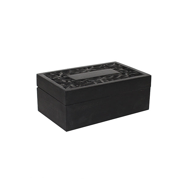 Wisteria Jewelry Box in Solid Black