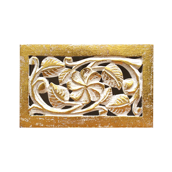 Clematis Jewelry Box in Gold over White