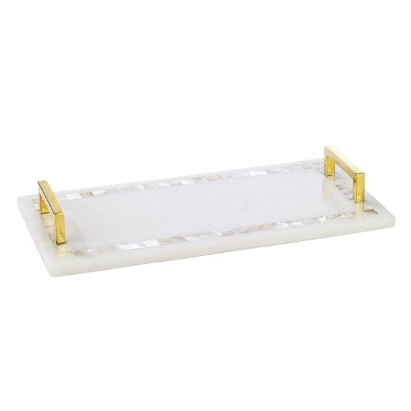 Moti Cheeseboard in Marble & Mother of Pearl