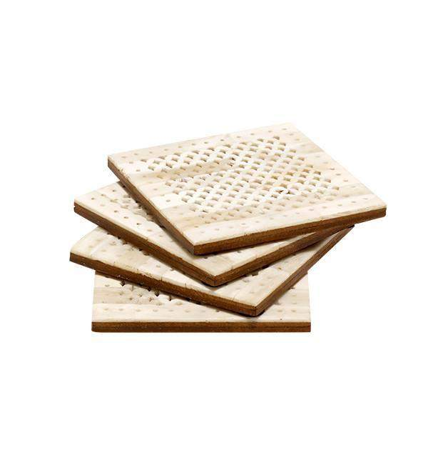 Chantilly Coaster Set in Natural Bone