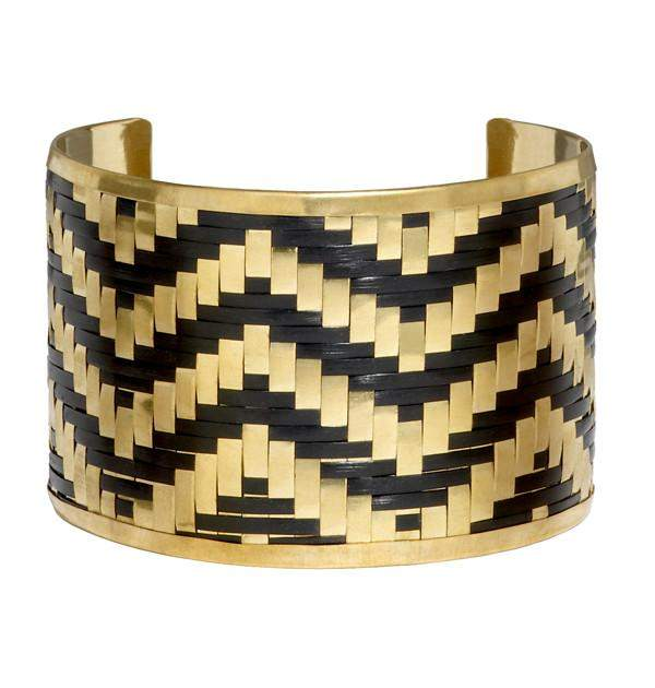 Lolita Cuff in Black & Gold