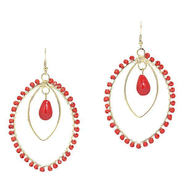 Spirit in Coral Earrings