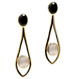 Dewdrop Earrings in White