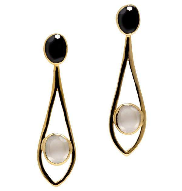 Dewdrop in White Earrings