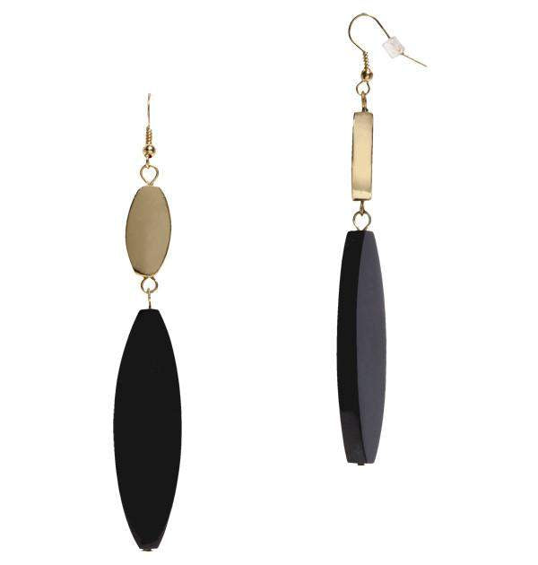Maracas Earrings in Horn