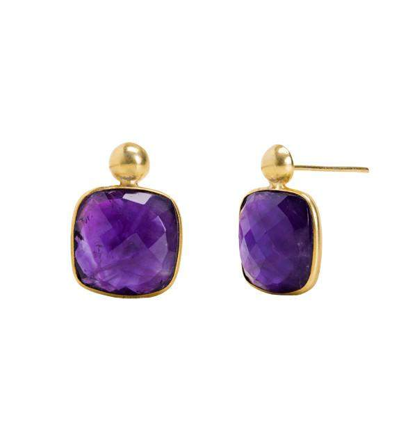 Delilah Earring in Amethyst