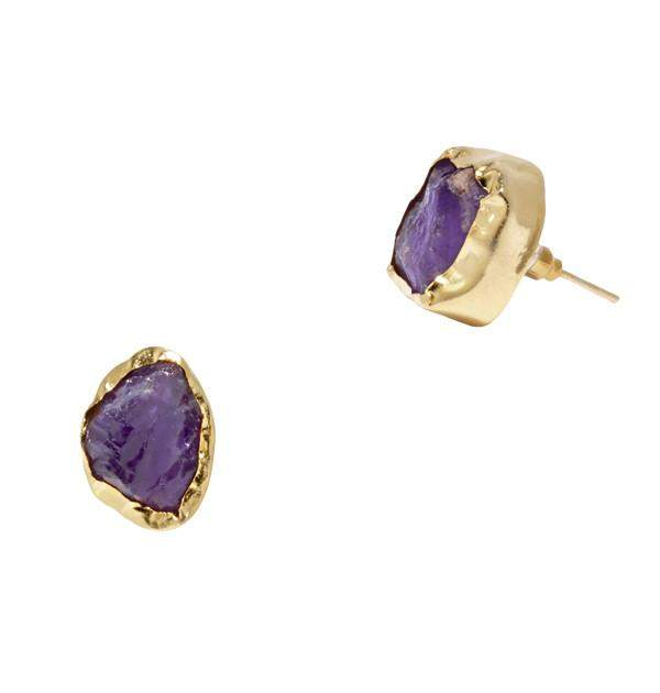Yuma Stud Earrings in Purple