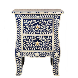 Imperial Beauty Two Drawer Bedside Table