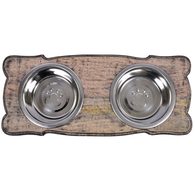 Retriever Pet Feeder in Distressed Black