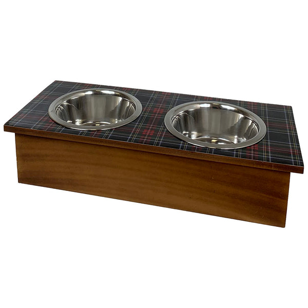 Tartan Plaid Pet Feeder