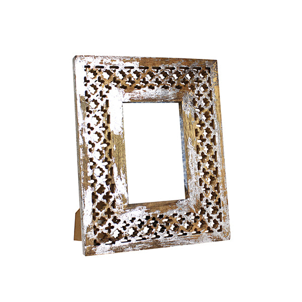 Trellis Frame 4x6 in Distressed Silver