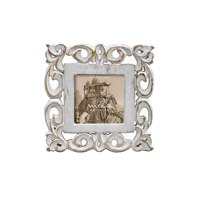 Lily Frame 4x4 in Shabby White