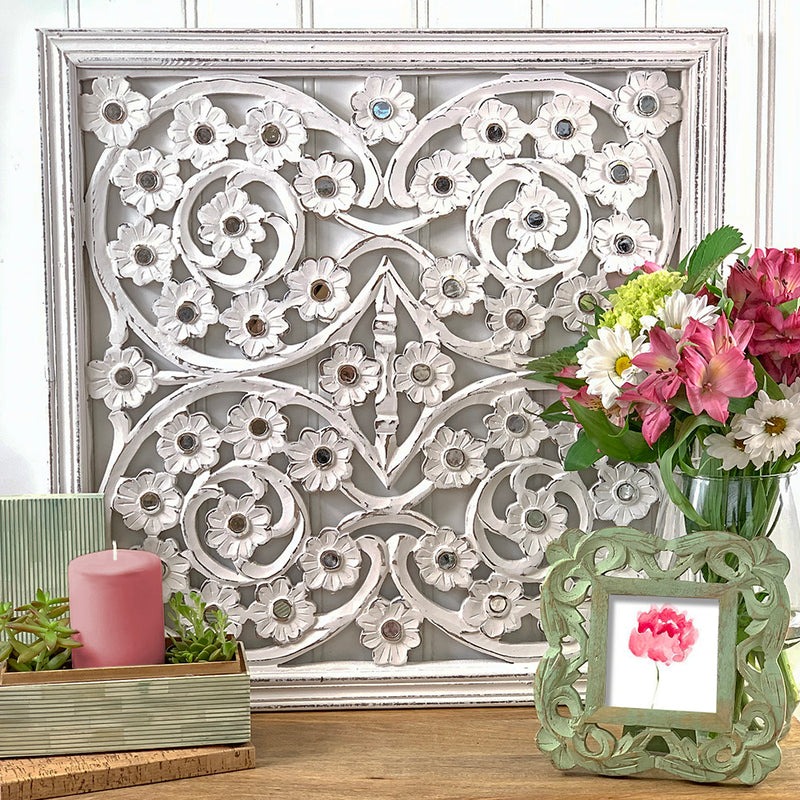 Binsar in Antique White Wall Panel