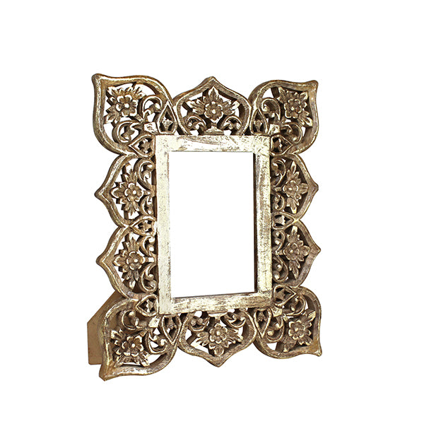 Adrienne Frame 4x6 in Distressed Gold