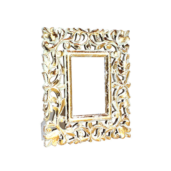 Wisteria Frame 4x6 in Gold over White
