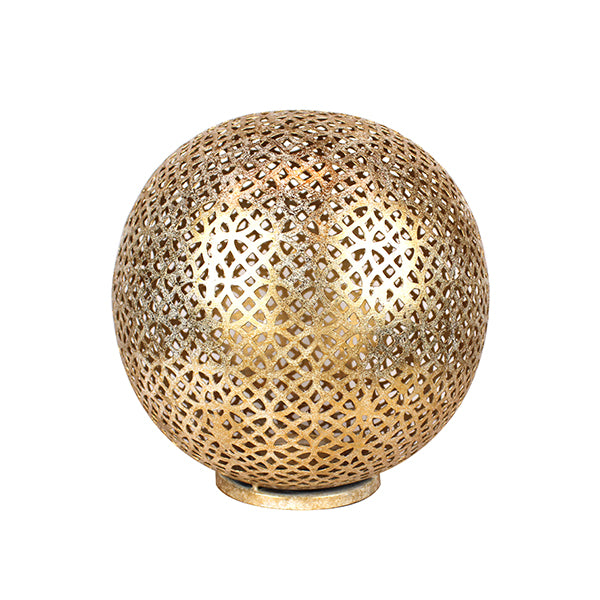 Mantra Globe Lantern Small in Shiny Gold