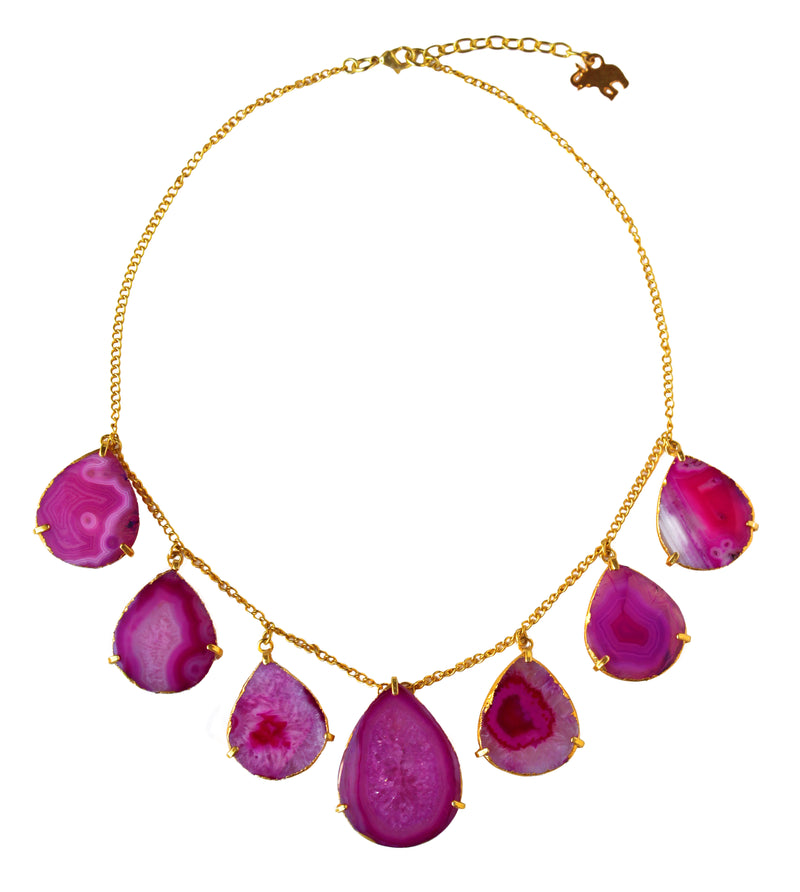 Dewdrop Necklace in Purple