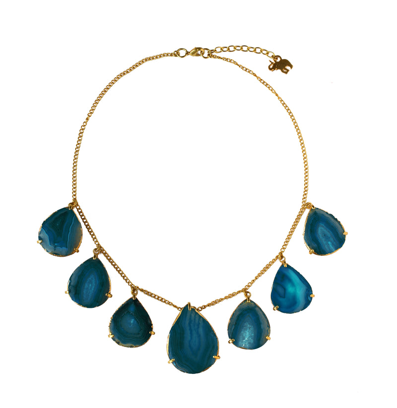 Dewdrop Necklace in Teal