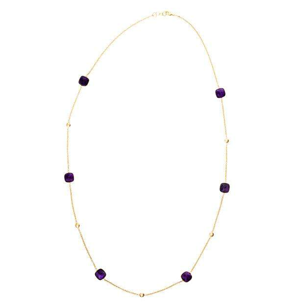 Delilah in Amethyst and Gold Necklace