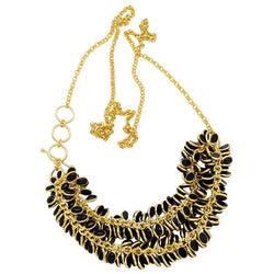 Petals Necklace in Black