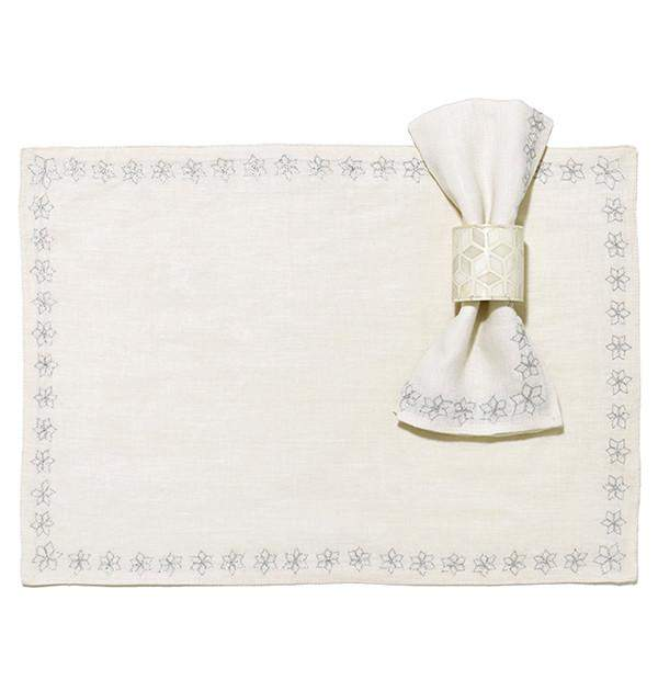 Starshine Napkin Ring in White